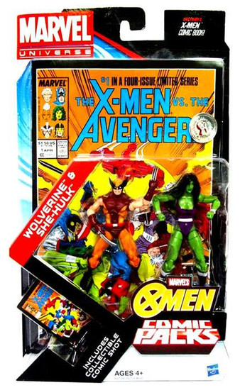 Marvel Universe Wolverine & She-Hulk Exclusive Action Figure 2-Pack