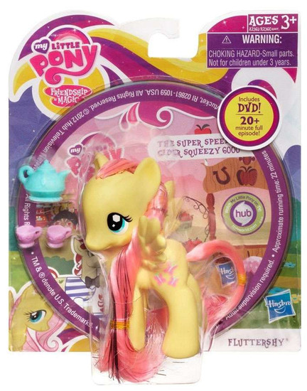 My Little Pony Friendship is Magic DVD Packs Fluttershy Figure
