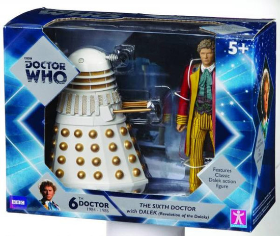 Doctor Who The 6th Doctor with Dalek Action Figure 2-Pack [White]