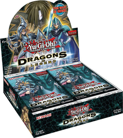 YuGiOh Trading Card Game Dragons of Legend Booster Box [24 Packs]