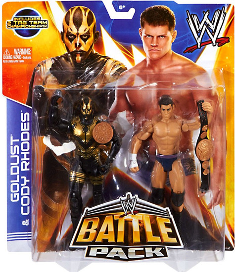 WWE Wrestling Battle Pack Series 29 Goldust & Cody Rhodes Action Figure 2-Pack [2 Tag Team Championships]