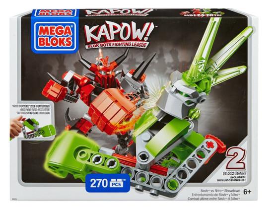 Mega Bloks Kapow! Bash vs. Nitro Showdown Set #94215