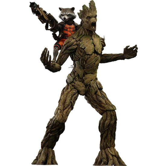 Marvel Guardians of the Galaxy Movie Masterpiece Rocket & Groot Collectible Figure Set