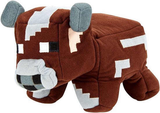 Minecraft Cow to Raw Beef Reversible Plush
