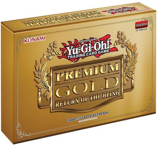 YuGiOh Trading Card Game Premium Gold Return of the Bling MINI Box [3 Booster Packs]