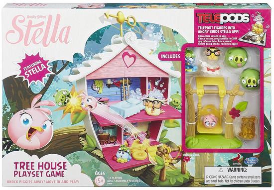 Angry Birds Stella Telepods Tree House Playset Game [Stella, Luca, & Poppy]