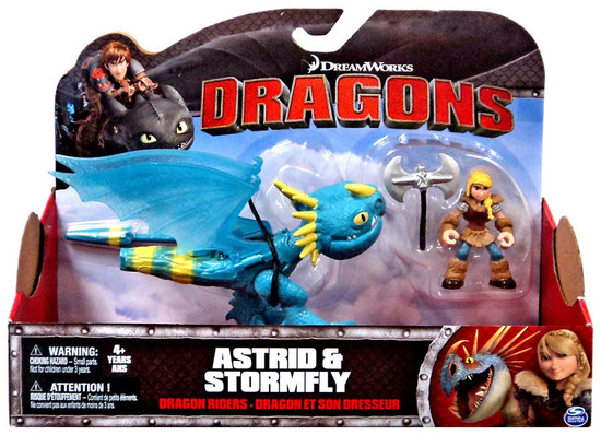 How to Train Your Dragon Dragons Dragon Riders Astrid & Stormfly Action Figure 2-Pack [Blue with Blue Jaw]