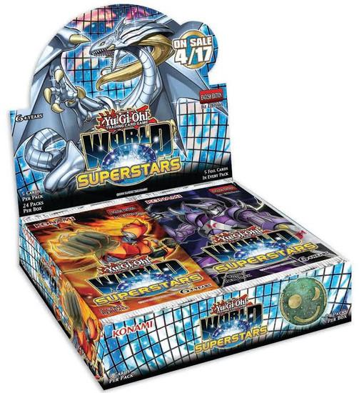 YuGiOh Trading Card Game World Superstars Booster Box [24 Packs]