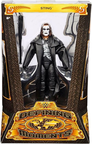 WWE Wrestling Defining Moments Sting Action Figure [Black Trench Coat & Bat]