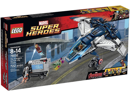 LEGO Marvel Super Heroes Avengers Age of Ultron The Avengers Quinjet City Chase Set #76032