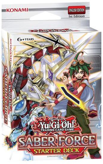 YuGiOh Trading Card Game Saber Force Starter Deck