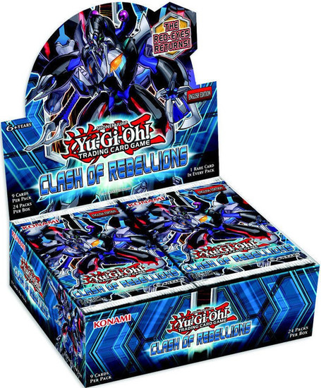 YuGiOh Trading Card Game Clash of Rebellions Booster Box [24 Packs]