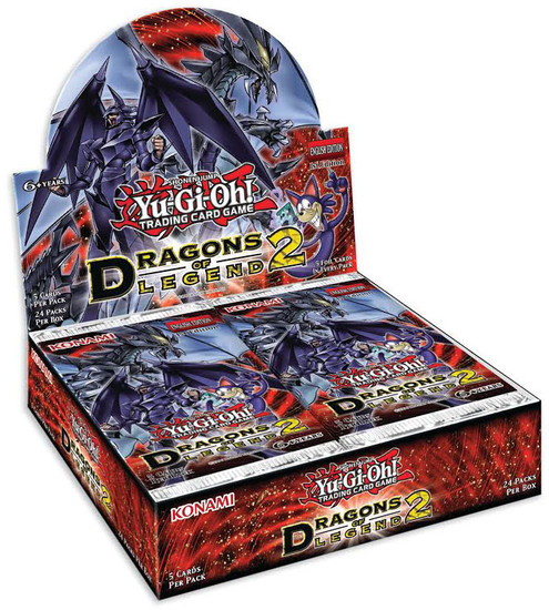 YuGiOh Trading Card Game Dragons of Legend 2 Booster Box [24 Packs]