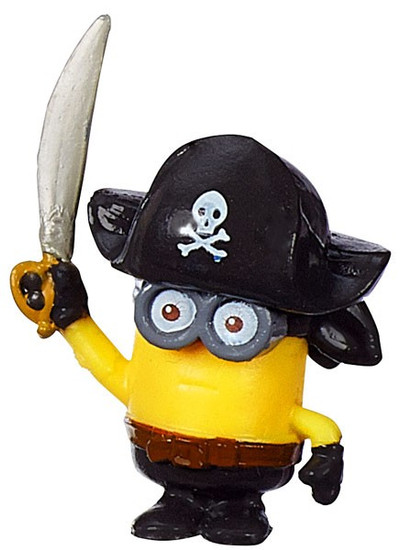 Despicable Me Minions Movie Challenge Card Game Captain Phil 1-Inch Micro Figure #25 [Loose]