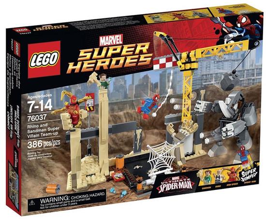 LEGO Marvel Super Heroes Ultimate Spider-Man Rhino & Sandman Super Villain Team-up Set #76037