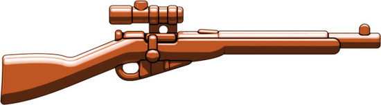 BrickArms Mosin Nagant with Scope 2.5-Inch [Brown]
