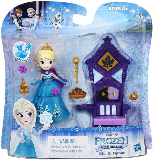 Disney Frozen Little Kingdom Elsa & Throne Mini Doll