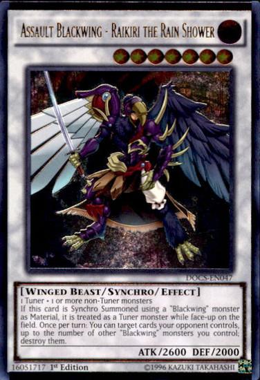 YuGiOh Dimension of Chaos Ultimate Rare Assault Blackwing - Raikiri the Rain Shower DOCS-EN047