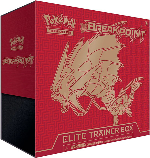 Pokemon Trading Card Game XY BREAKpoint Mega Gyarados Elite Trainer Box [8 Booster Packs, 65 Card Sleeves, 45 Energy Cards & More]