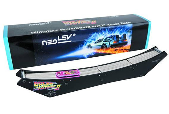 """Back to the Future Miniature Hoverboard with 12"""" Track Base Desk Toy"""