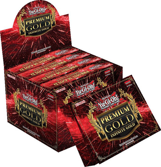 YuGiOh Trading Card Game Premium Gold Infinite Gold DISPLAY Box [5 MINI Boxes (15 Booster Packs)]