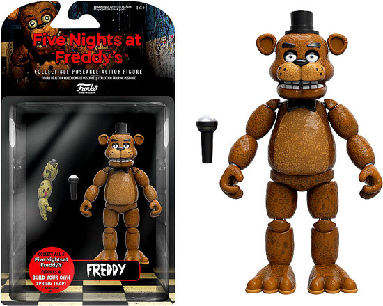 Funko Five Nights at Freddy's Series 1 Freddy Action Figure [Build Spring Trap Part]