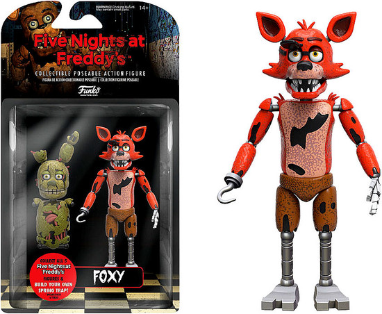 Funko Five Nights at Freddy's Series 1 Foxy Action Figure [Build Spring Trap Part]