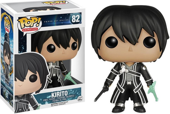 Funko Sword Art Online POP! Anime Kirito Vinyl Figure #82 [Grey Shirt]