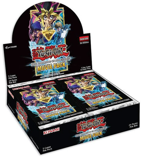 YuGiOh Trading Card Game Dark Side of Dimensions Movie Pack Booster Box [24 Packs]