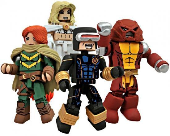 Marvel MiniMates Avengers vs. X-Men Exclusive Minifigure 4-Pack [Emma Frost, Cyclops, Colossus]