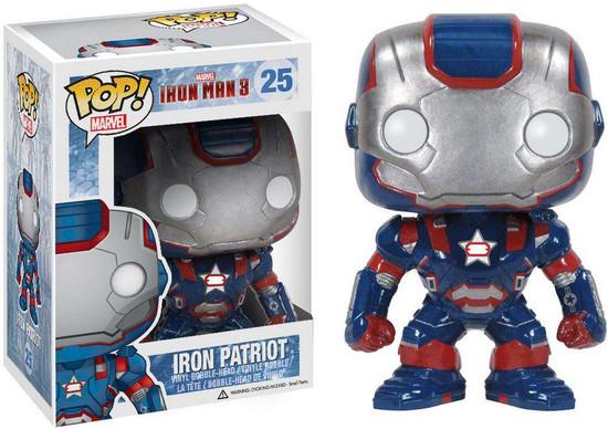 Funko Iron Man 3 POP! Marvel Iron Patriot Vinyl Bobble Head #25