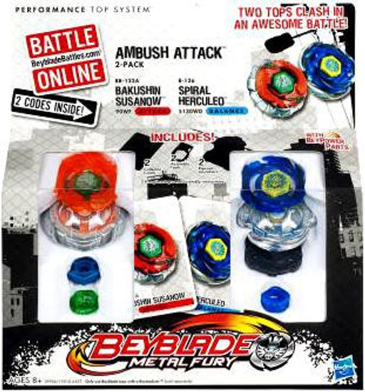 Beyblade Metal Fury Ambush Attack 2-Pack