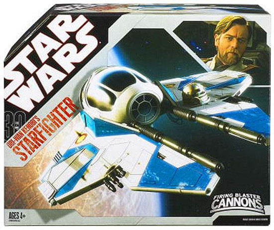 Star Wars Revenge of the Sith 30th Anniversary Obi-Wan Kenobi's Starfighter Action Figure Vehicle [Blue Trim]