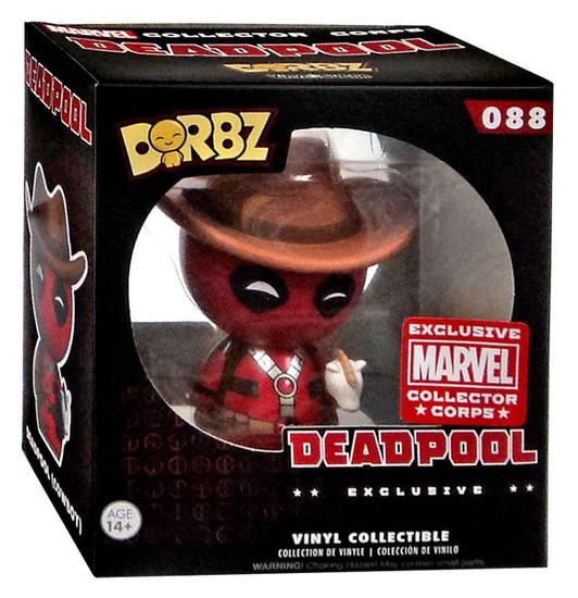 Funko Marvel Dorbz Cowboy Deadpool Exclusive Vinyl Bobble Head #088