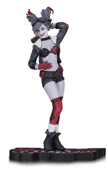 DC Bombshells Harley Quinn Red, White & Black Harley Quinn Statue [Red, White & Black]