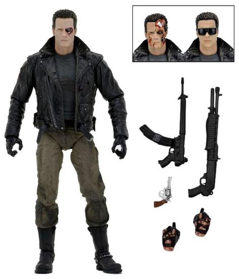 NECA Terminator T-800 Action Figure [Ultimate Version, Police Station Assault, Motorcycle Jacket]