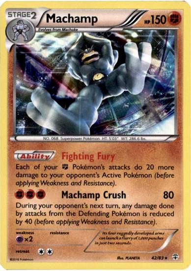 Pokemon X & Y Generations Rare Holo Machamp #42