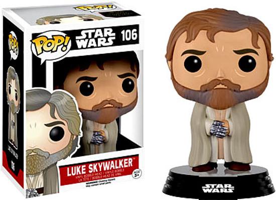 Funko The Force Awakens POP! Star Wars Luke Skywalker (Bearded, Robe) Vinyl Bobble Head #106 [EP7]