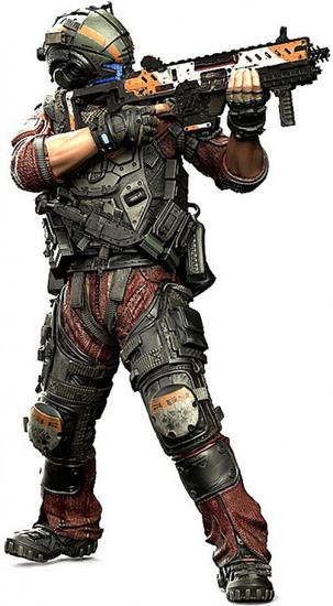 McFarlane Toys Titanfall 2 Color Tops Red Wave Pilot Jack Cooper Action Figure #8