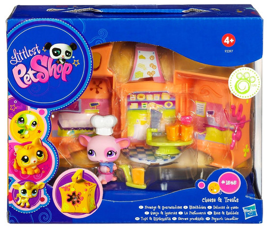 Littlest Pet Shop Pets on the Go Mouse Mini Pet Carrier Play Set [Cheese & Treats]