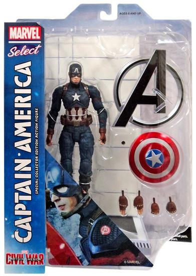 Captain America: Civil War Marvel Select Captain America Action Figure [Civil War]