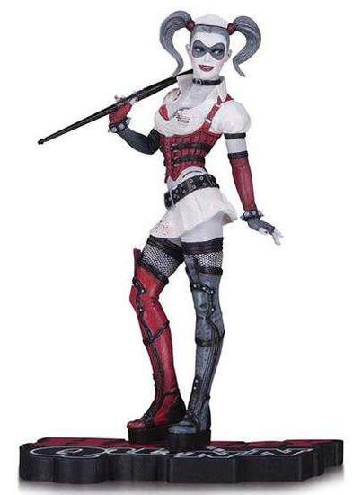 Batman Arkham Asylum Harley Quinn Red, White & Black Harley Quinn 7-Inch Statue [Arkham Asylum]