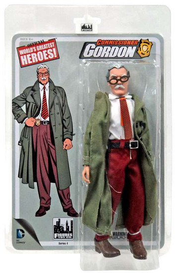 Batman 1966 TV Series Classic TV Series 4 Commissioner Gordon Retro Action Figure