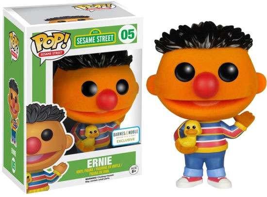 Funko Sesame Street POP! TV Ernie Vinyl Figure #05 [Flocked]