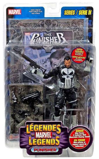 Marvel Legends Series 4 Punisher Action Figure [Foil Print Variant, Multilingual Package]