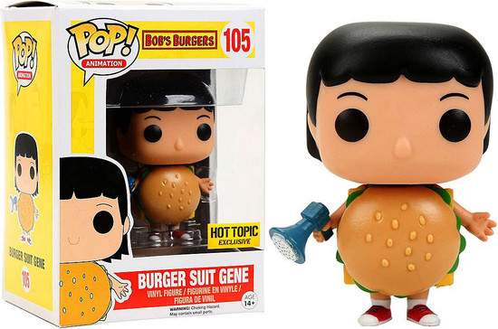 Funko Bob's Burgers POP! Animation Burger Suit Gene Vinyl Figure #105