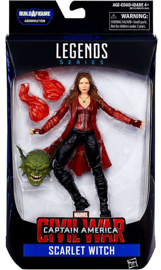 Captain America Civil War Marvel Legends Abomination Series Scarlet Witch Action Figure