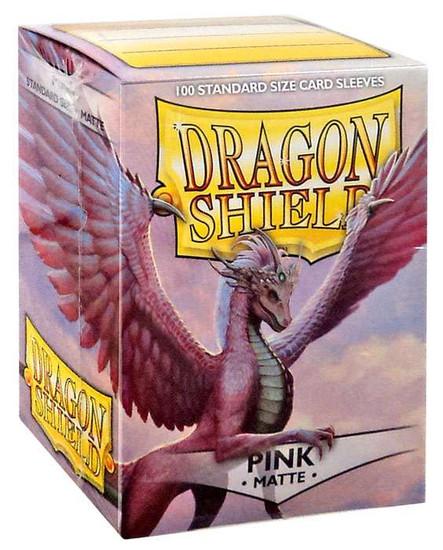 Card Supplies Dragon Shield Matte Pink Standard Card Sleeves [100 Count]