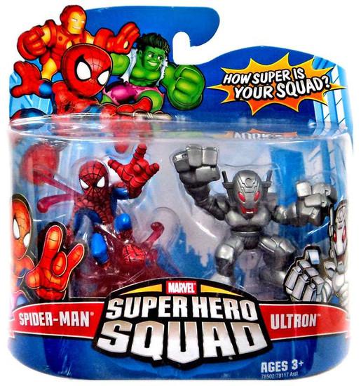 Marvel Super Hero Squad Series 10 Spider-Man & Ultron 3-Inch Mini Figure 2-Pack