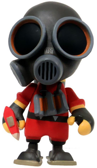Team Fortress 2 Portable Mercs Red Pyro 3-Inch 1/12 Mini Figure [Loose]